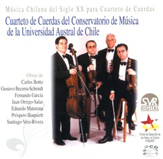 Chilean Music from 20th Century for String Cuartet (2 CDs)